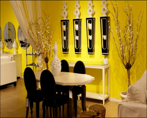 Yellow Round And Dinning Room